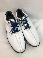 Footjoy Junior Dna sz 6M White/Black Leather Bicycle Toe Golf Shoes 45023