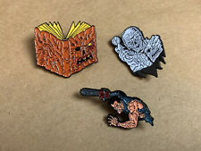 Horror - Enamel Pin Set - Evil Dead / Army Darkness / Necronomicon / Tales Crypt