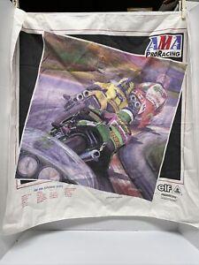 Vtg 1997 Motorcycle AMA Bandana Superbike Pro Racing Kawasaki Ducati Honda Nice!