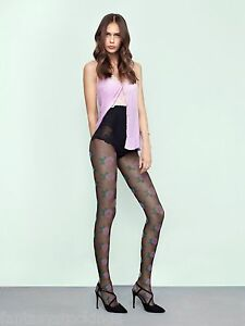 Pink Punk Floral Pantyhose Fiore 20 den SMALL size tights, LIMITED EDITION, LAST
