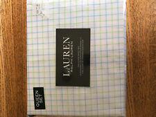 NEW LAUREN Ralph Lauren tattersall queen sheet set - new in package