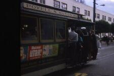 POWELL & MASON TROLLEY, SAN FRANCISCO, 1968 35mm PHOTO SLIDE