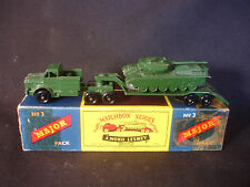 Old Vtg MATCHBOX MOKO LESNEY #3 Major Pack Military Set Tanker Truck Diecast Box