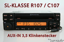 MERCEDES Autoradio Originale r107 Classe SL SPECIAL mf2297 c107 CD-R Aux-in mp3