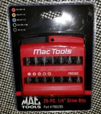 "NEW MAC Tools™ PBD28S 28-piece 1/4"" drive bits + Bit Holder Sealed by Facom"