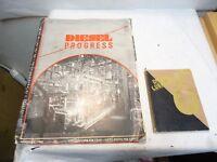 February 1943 Diesel Engines Progress Magazine & 1945 Diesel Lubrication Booklet