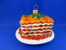 Ricotta Cheese Lasagna Food Chef Bake Christmas Ornaments Poland 011305