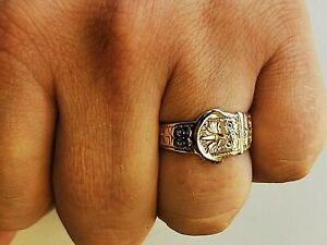 Solid gold Buckle ring, fully UK hallmarked 9ct gold -  Free Insured P&P #Ma