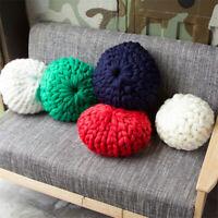 Thick Sofa Chunky Knit Pillow Hand Yarn Bulky Cushion Pad Home Decor Xmas Gifts