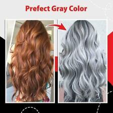 GREY HAIR SILVER EFFECT TONER DYE BLOND HAIR 100 ml. NO & AMMONIA PEROXIDE A4E5