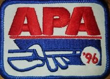 APA 1996 MEMBERSHIP PATCH PATCHES AMERICAN POOLPLAYERS