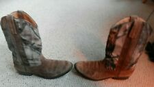 Masterson Boot Co Women's Cowboy Camouflage Western Boots Size 5D RB2008Y GUC