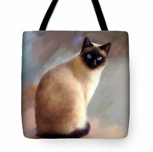 Tote bag All over print Cat 613 siamese digital art L.Dumas