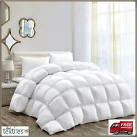 LUXURY 13.5 TOG HOTEL QUALITY GOOSE / DUCK FEATHER & DOWN DUVET QUILT ALL SIZES