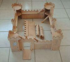 IMPOSANTE CITE MEDIEVALE - CHATEAU FORT / FEODAL - JEU DE CONSTRUCTION EN BOIS -