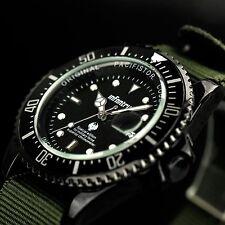 INFANTRY Mens Date Quartz Wrist Watch Lumnious Tactical Army Sport Canvas Nylon