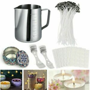 Practical DIY Candle Making Kit Candles Craft Tool Set Pouring Pot Wicks Wax Kit
