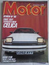 Motor 28/12/85 Toyota Celica 2.0 GT