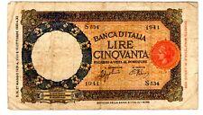 ITALIE ITALY ITALIA BILLET 50 LIRE  ( 1939 1933 1896 ) WWII BON ETAT