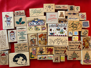 Lot Of New Stamps Thanksgiving Christmas Assorted Brands Alma Lynne, Stampendous