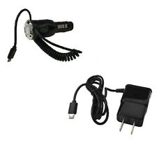 2 AMP Micro USB Car Charger + Wall Travel Charger for Coolpad Catalyst 3622A