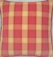 A 16 Inch cushion cover In Laura Ashley halkirk raspberry fabric