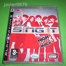 DISNEY SING IT HIGH SCHOOL MUSICAL 3 NUEVO Y PRECINTADO PAL ESPAÑA PLAYSTATION 3