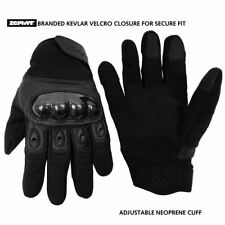 Zephyr Tactical Full Finger Carbon Fiber TOUCHSCREEN Gloves Black Large