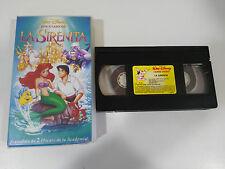 LA SIRENITA VHS TAPE COLECCIONISTA LOS CLASICOS DE WALT DISNEY LITTLE MERMAID