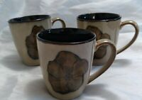 Pfaltzgraff Painted Poppies Coffee Mugs - Set of 3. GOOD condition