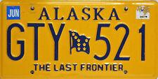 Alaska License Plate, Original Kennzeichen USA  GTY 521 ORIGINALBILD