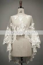 Bridal Jacket Bolero Wedding Shawl Wraps Cape White/Ivory Shrug 2018 Lace Custom