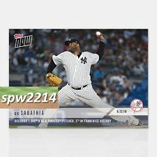 2018 Topps Now CC Sabathia #313 - 1500th K as Yankees Pitcher