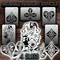 Airbrush Stencils REUSABLE 4 SUITS New VINYL (adhesive)