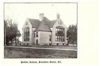 Public School Franklin Grove IL Illinois Postcard