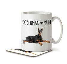 Doberman Mum - Mug and Coaster by Inky Penguin