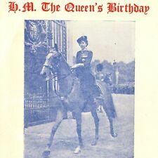 Vintage 1954 Queen Elizabeth II Birthday Horse Guard Parade Programme UK