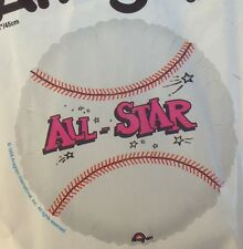 "BASEBALL ALL STAR SPORTS PARTY 18"" FOIL BALLOON!"