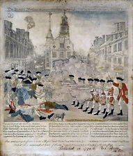 Paul Revere Boston Massacre American Revolution Real Canvas Art Print