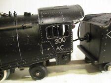 """"""" AMERICAN FLYER """" # 300 AC 4-4-2 STEAM LOCOMOTIVE & COAL & WATER TENDER.1946-47"""