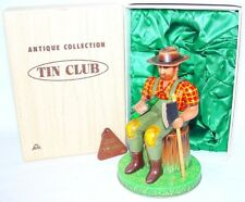 Alps Japan TIN CLUB Antique MECHANICAL LUMBERJACK Battery Operated Tin Toy MIB!