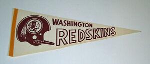 1960's Washington Redskins pennant vintage Single Bar Helmet Logo