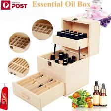 59 Bottle 3 Tier Essential Oil Aromatherapy Wooden Storage Box Case Container