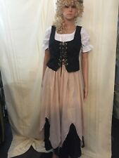 Renaissance Peasant Wench 4 Piece Costume Size Small