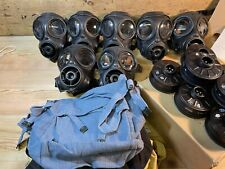 More details for 7 x avon s10 british military gas masks 1980s job lot. with filters. unissued!!