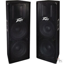 "(2) Peavey PV215 Dual 15"" Woofer Floor Passive 1400W Live PA DJ Speaker Pair"