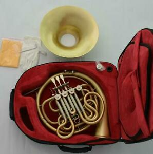 NEW Professional 4 Key Bb/F Double French Horns Brushed Brass Detachable Bell