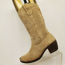 Matisse Brown Suede Mid Calf Fashion Boots Size 8 M Style Patriot