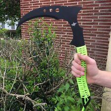 FANTASY FIXED BLADE KNIFE Grim Reaper Scythe Black Green Sickle Zombie FM-676