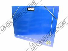 CARTELLETTA PORTADISEGNI IN CARTONE CON ELASTICO - BLU - 50x70cm